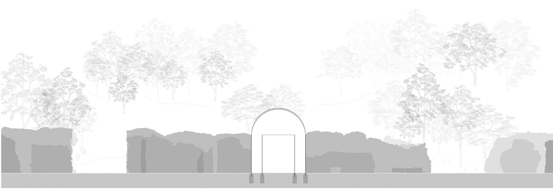Bauplan Raumversuch Nummer 6 Annekatrin Doell Schnitt 3 Ausgangsbereich Amphitheather