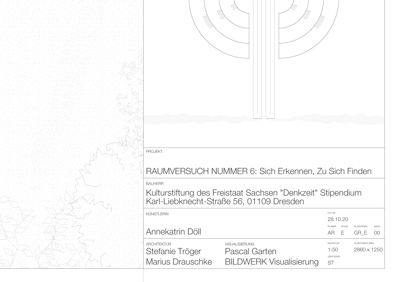 Bauplan Raumversuch Nummer 6 Annekatrin Doell Plankopf Denkzeit Stipendium