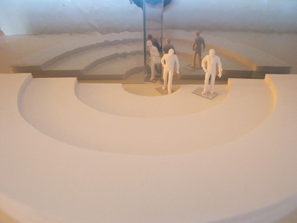 Raumversuch Nummer 6 Annekatrin Döll Amphitheater Ausgangsbereich