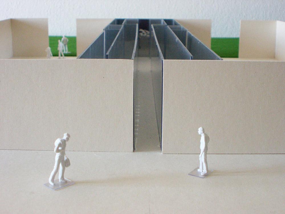 Raumversuch Nummer 6 Architekturmodell Eingang
