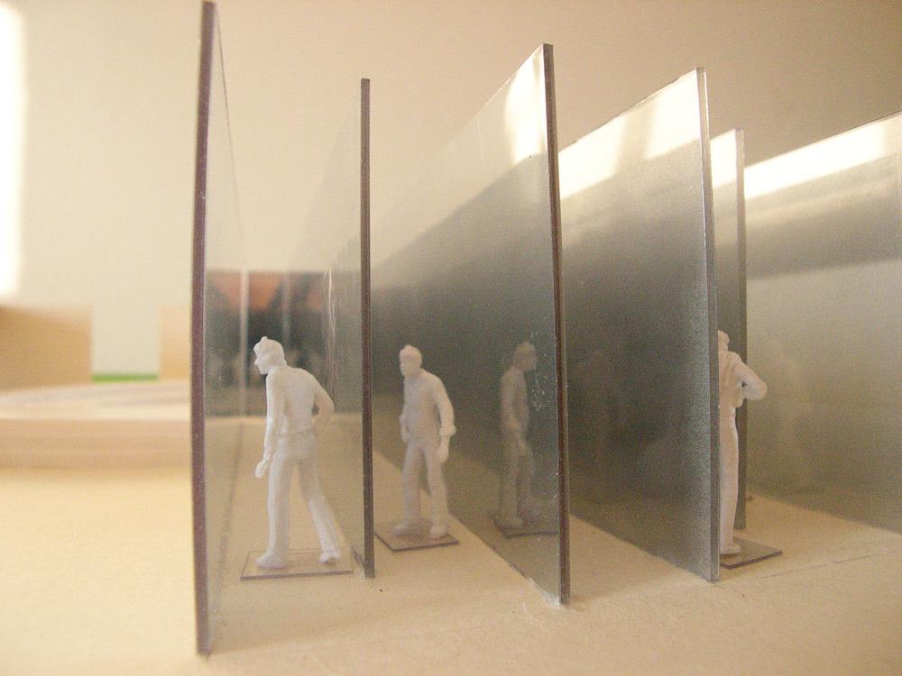 Raumversuch Nummer 6 Architekturmodell Glaskorridore